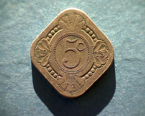 1913 NETHERLANDS FIVE CENT