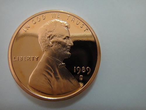 1989-S Lincoln Cent Proof-67 (SUPER GEM) RED