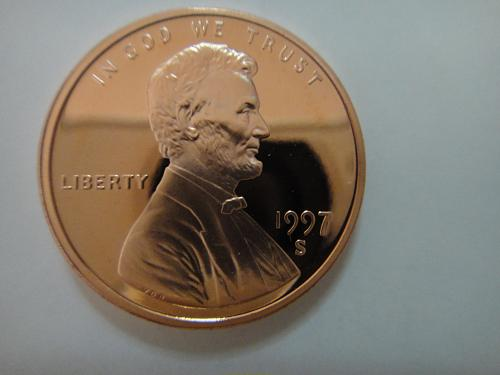 1997-S Lincoln Cent Proof-65 (GEM) RED