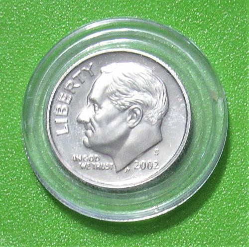 2002-S 10 Cents - Roosevelt Dime - Cameo Proof