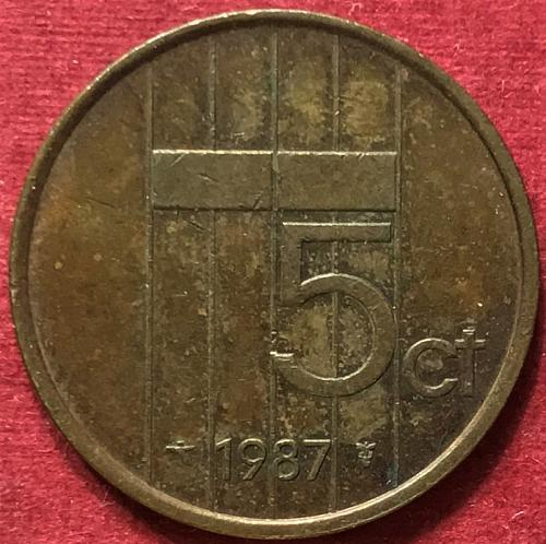 Netherlands 1987 - 5 Cents
