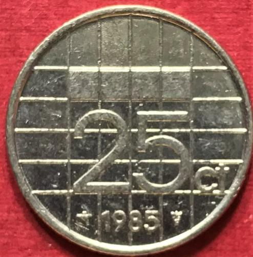 Netherlands 1985 - 25 Cents