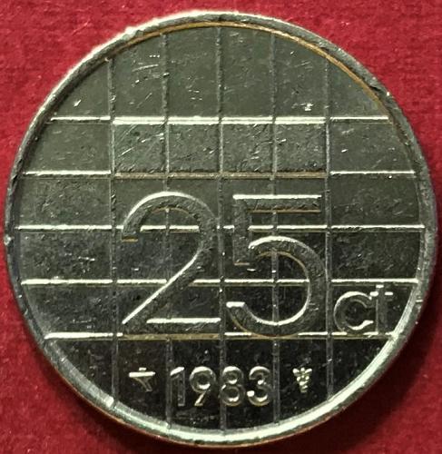 Netherlands 1983 - 25 Cents