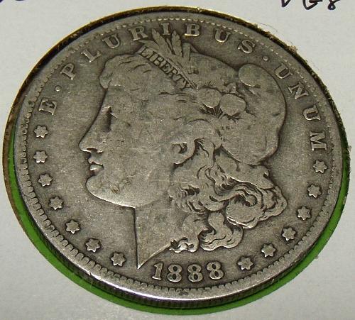 1888O Morgan Dollar  VG8  #$-1888O-1