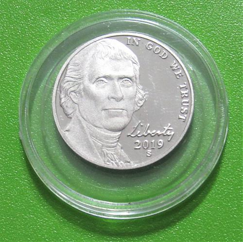 2019-S 5 Cents - Jefferson Nickel - Cameo Proof
