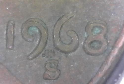 1968 S Lincoln Memorial Cent Small Cent