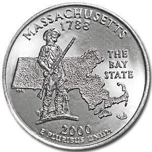 2000-D Massachusetts Quarter