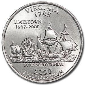 2000-D Virginia Quarter