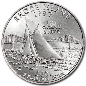 2001-P Rhode Island Quarter