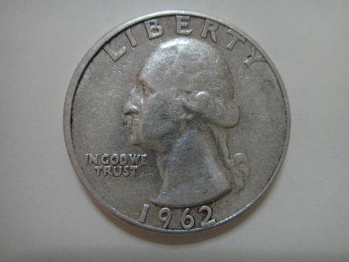 1962 TYPE B Washington Quarter Extra Fine-40 Not An Easy Find!