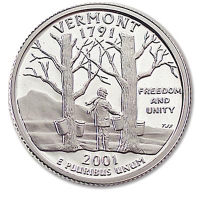 2001-P Vermont Quarter