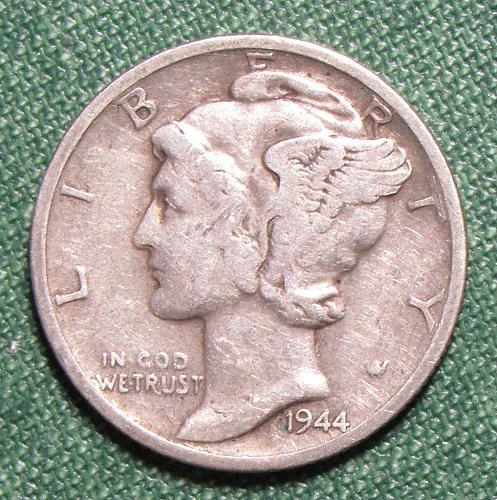1944S Mercury Silver Dime