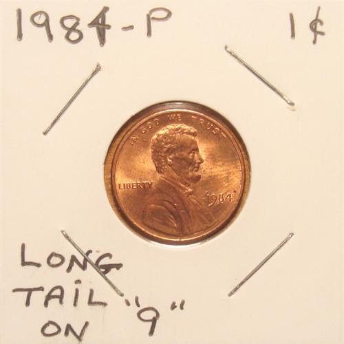 1984 P Lincoln Memorial Cent Small Cent