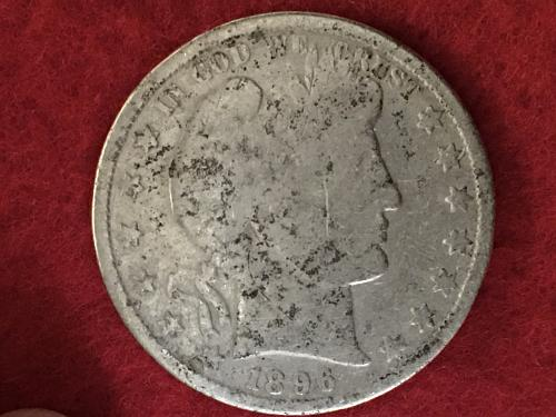 1896 Barber Half Dollar Better Date FREE SHIPPING! Fill the hole in the book!