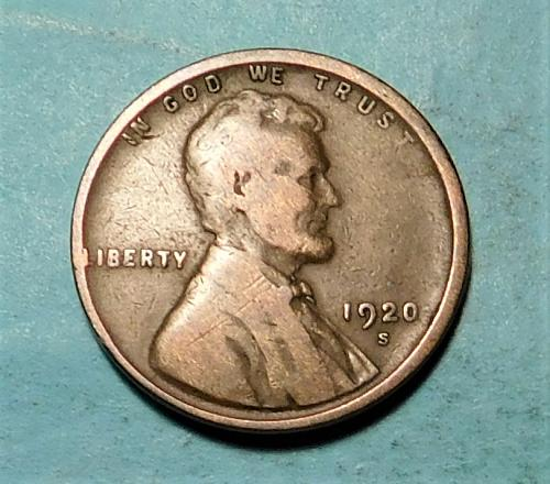 1920-S Lincoln Wheat Cent