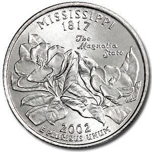2002-D Mississippi Quarter
