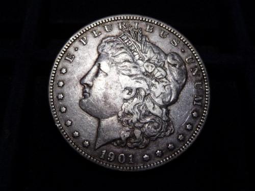 1901-O MORGAN SILVER DOLLAR IN FINE CONDITION  L-8-20