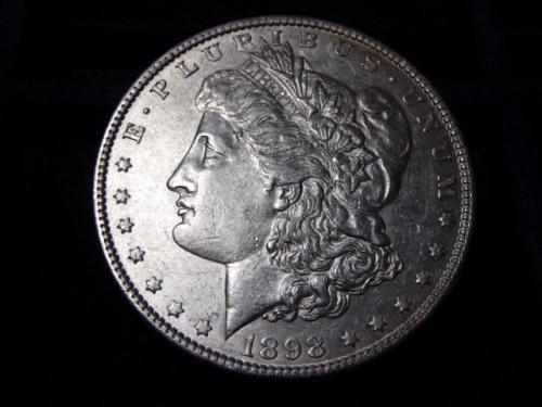 1898-P MORGAN SILVER DOLLAR IN EXTRA FINE CONDITION  L-8-20