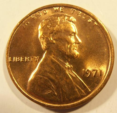 1971 P LINCOLN CENT, BU from a nice roll
