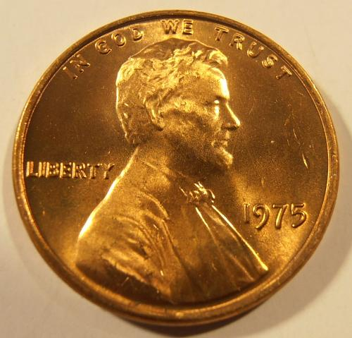 1975 P LINCOLN CENT, BU from a nice roll