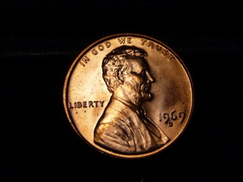 1969-D LINCOLN MEMORIAL CENT IN UNCIRCULATED CONDITION  L-9-20