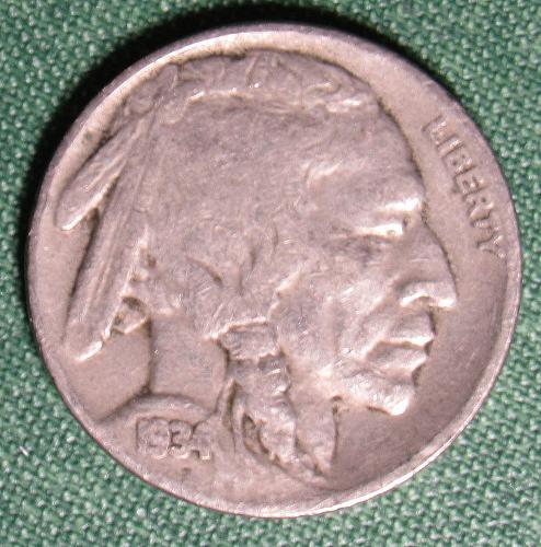1934P Buffalo Nickel