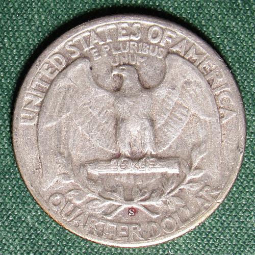 1943S Washington Silver Quarter