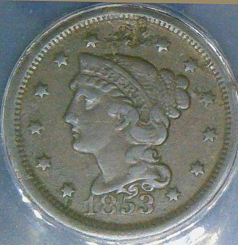 1853 Braided Hair Liberty Head Large Cents Early Copper Penny