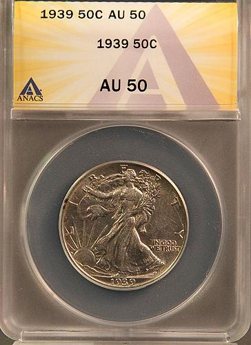 1939 Walking Liberty Half Dollars  S-1