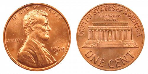 1969-S LINCOLN MEMORIAL CENT IN PROOF CONDITION  L-10-20