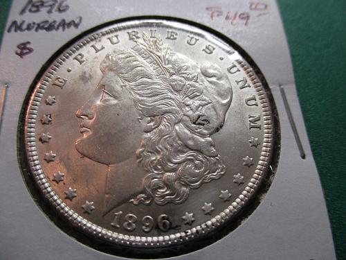 1896  AU53 Morgan Dollar.  Item: DM 96-07.