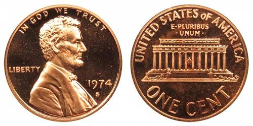 1974-S LINCOLN MEMORIAL CENT IN PROOF CONDITION  L-10-20