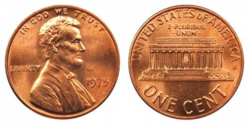 1975-P LINCOLN MEMORIAL CENT IN UNCIRCULATED CONDITION  L-10-20