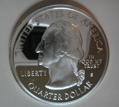 Statehood Quarter 2004-S Michigan SILVER Proof-65 (GEM)