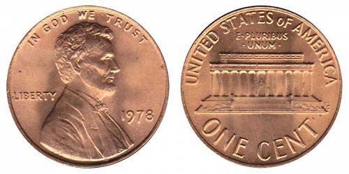 1978-P LINCOLN MEMORIAL CENT IN UNC CONDITION  L-11-20