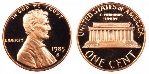 1985-S LINCOLN MEMORIAL CENT IN PROOF CONDITION  L-11-20