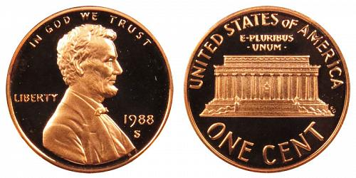 1988-S LINCOLN MEMORIAL CENT IN PROOF CONDITION  L-11-20