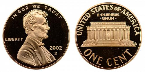 2002-S LINCOLN MEMORIAL CENT IN UNCIRCULATED PROOF CONDITION  L-11-20