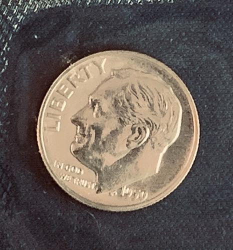 1959 P PROOF Roosevelt Dime +++ In US Mint cello
