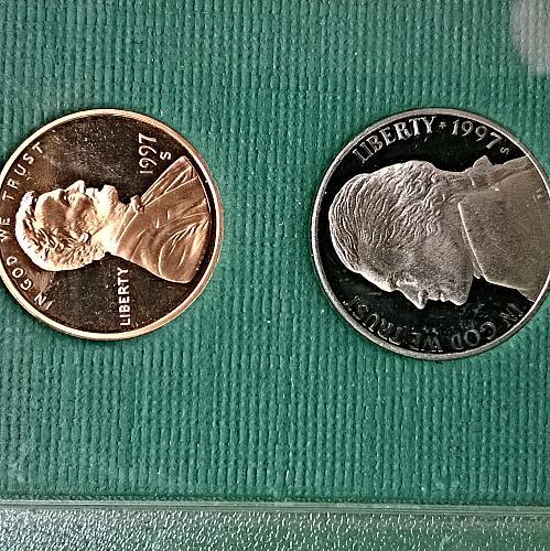 1997 S Proof Set - 5 Coins - 9 Photos!