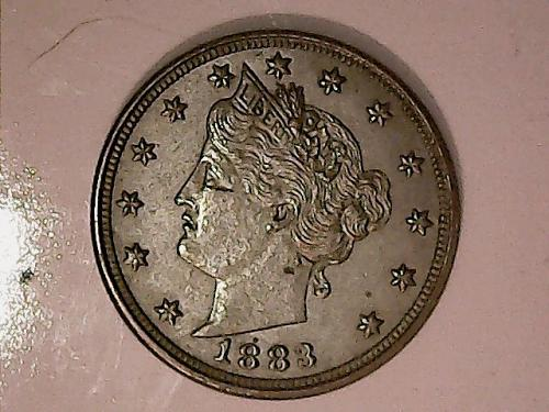 1883 Liberty Head V Nickel No Cents XF+++