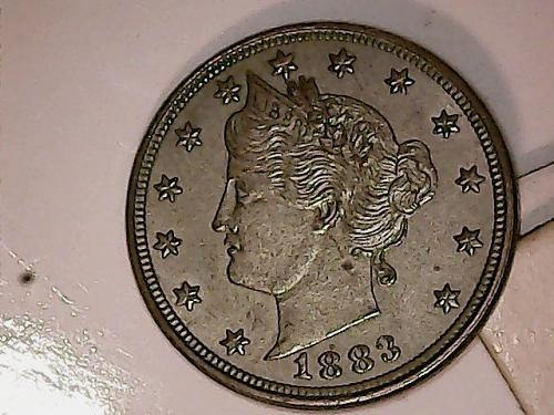 1883 Liberty Head V Nickel No Cents XF+++