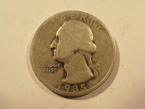 1935 D Washington Silver Quarter,  (35DEW1)