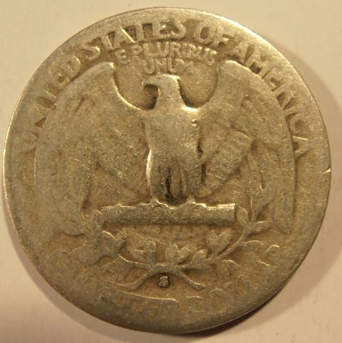 1935 S Washington Silver Quarter,  (35SEW4)
