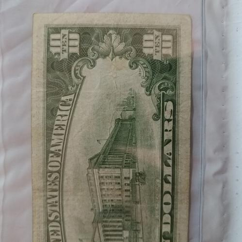 1934 $10 D Block Light Green FRN High Grade