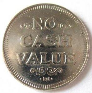 NO CASH VALUE TOKEN  #-2 L-12-20
