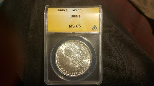 1889 P Morgan Silver Dollar ANACS MS65