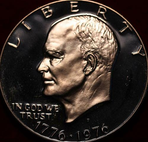 Uncirculated Proof 1976-S San Francisco Mint Silver Eisenhower Dollar