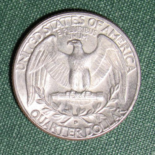 1964D Washington Silver Quarter