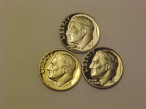 1975 S, 1976 S, 1977 S ROOSEVELT DIMES           ae98
